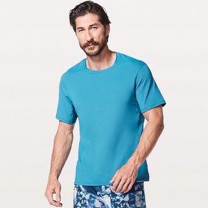 Lululemon   Run Out SS Blue Shirt